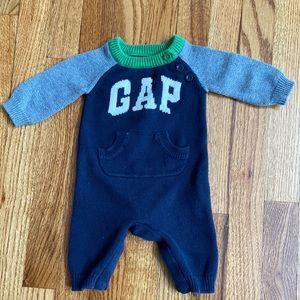 Baby Boy 0-3 Months Gap Sweater Onepiece